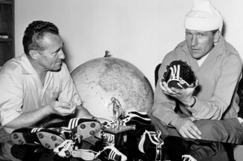 Adi Dassler and footballer Bernd Trautmann
