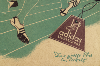 One of adidas' first promotional cards.