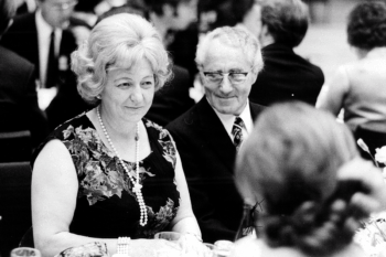 Käthe and Adi Dassler at a company event